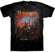 ALL SHALL PERISH-THIS IS WHERE IT ENDS-T-SHIRT-MEDIUM