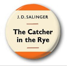 THE CATCHER IN THE RYE COVER  - 1 inch / 25mm Button Badge - Novlety JD Salinger