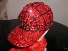 RED SEQUIN BASEBALL HAT 4 SOCIETY HALLOWEEN SPIDERWOMAN