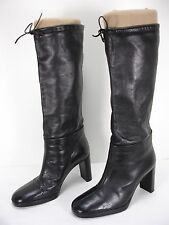 FORNARINA LEATHER PULL ON HIGH HEEL KNEE HIGH BOOTS WOMEN'S 37
