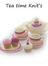 toy tea set & cupcake knitting pattern 99p