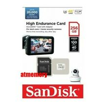Sandisk 256GB High Endurance Card MicroSD SDXC UHS-I V30 Dashcam Surveillance