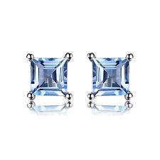 JewelryPalace Natürliche Himmel Blau Topas Ohrstecker Ohrring 925 Sterlingsilber