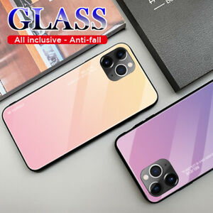 Tempered Glass Phone Case Luxury Hard Shockproof Bumper For iPhone 7 Plus 8 Plus