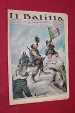 rivista a fumetti IL BALILLA Supplemento Popolo d'Italia ANNO XV N.4 (1937)
