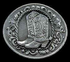 Silver Western Cowboy Cowgirl Boots Rodeo Belt Buckle Buckles