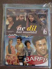DVD Aa Dil Ha Mushkil & BARFI  Hindi Bollywood Movie 2 In 1 Hindi movie