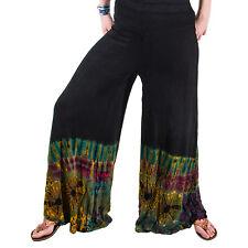 Kunst und Magie Bunte DamenTie Dye Batik Hose normale Beinlänge