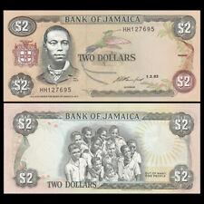 Jamaica 2 Dollars, 1993, P-69e, UNC