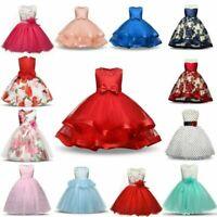 Flower Girl Princess Dress Baby Kid Party Wedding Bridesmaid Xmas Tutu Dresses