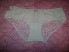 2 Pairs Knickers Size 18 With Lace Panel Purple Black Nude Bnwot