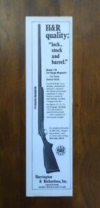 1979 H&R Model 176 10 Gauge Magnum Shotgun Photo  Vintage Print Ad Gun Picture