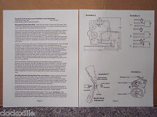 "MANTLE CLOCK MOVEMENT INSTALLATION INSTRUCTION ""MANUAL"" - service repair parts"