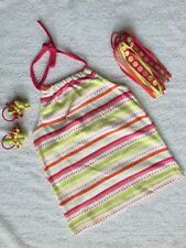 Gymboree Girls Size 7 Halter Tank Top Hair Accessories Citrus Cooler EEUC HTF