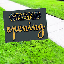 Grand Opening Plastic Novelty Indoor Outdoor Coroplast Yard Sign With H Stake