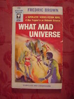 RARE WHAT MAD UNIVERSE by FREDRIC BROWN 1954 EDITION