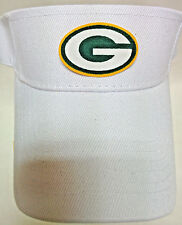 Green Bay Packers Applique, Heat Applied on WHITE VISOR cap hat. Adjustable!