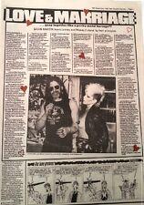LEMMY (Motorhead) & Wendy O Williams 1982 UK ARTICLE / clipping