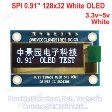 """0.91"""" SPI 128*32 OLED LCD Display Module White Panel AVR for Arduino R3 3.3v~5v"""