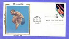 "1984 Sc #2082 20c Los Angeles Olympics - Diving Colorano ""Silk"" FDC"