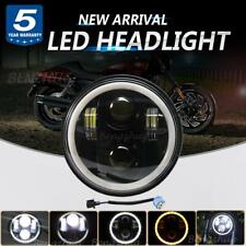 "DOT 5.75"" 5 3/4 LED Headlight Halo Motorcycle DRL Turn Signal Lamp For Harley"