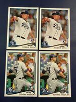2014 Topps # 278 Tommy Medica # 281 Robbie Erlin Rookie Lot 4 San Diego Padres