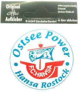 FC Hansa Rostock Ostsee Power Aufkleber Bundesliga Fussball #620