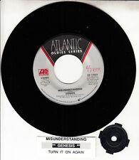 "GENESIS  Misunderstanding & Turn It On Again PHIL COLLINS 7"" 45 vinyl record NEW"