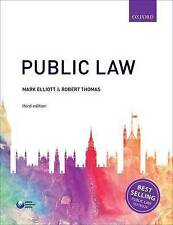 New - Public Law Paperback Book by Mark Elliott - Law Degree First Year New
