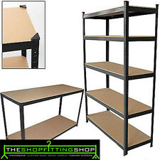 Garden Shed Heavy Duty Boltless Shelving 5 Tier Rack for Shop Display Garage