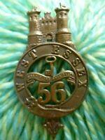 VICTORIAN 56th (West Essex) Regiment of Foot Cap Badge QVC Lugs ANTIQUE Original