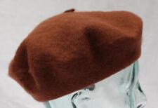 100% lana pura Marrón Boina Unisex Ideal para hombres y mujeres