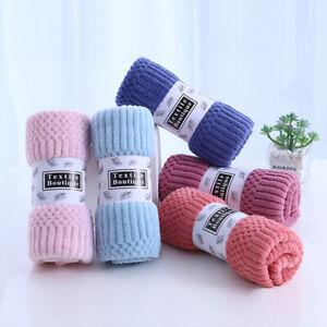 Coral Fleece Towel Super Soft Absorbent Washcloth Colorfast Jacquard Towel