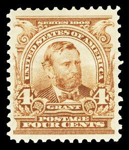 Scott 303 1903 4c Brown Grant Regular Issue Mint VF OG HR Cat $55