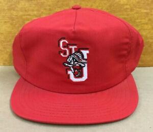 Vintage 80's NOS St. Johns University Adjustable Snapback Cap Hat  NEW USA Made