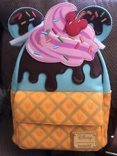 Loungefly Disney Minnie Mouse Sweets Ice Cream Mini Backpack New