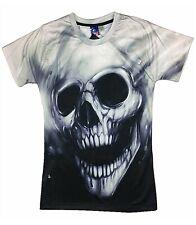Gothic Skull T-Shirt ( heavy metal punk biker motorcycle harley rock horror )