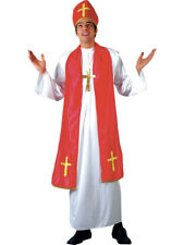 Mens Holy Cardinal Pope Vicar Priest Bishop Religious Stag Fancy Dress Costume