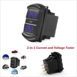 DC12-24V/0.1-10A Dual LED Digital Multimeter Ammeter Voltage Meter For Car Truck