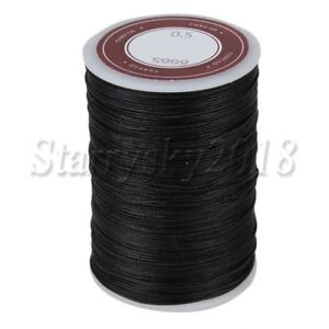 0.5mm Leather Sewing Polyester Round Waxed Thread Cord for DIY Handicraft
