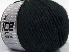 100 Gram Inca Alpaca Bulky Yarn #43725 Anthracite Black ICE 40 Alpaca 50 Wool