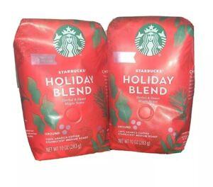 2 Pk - Starbucks 2020 Holiday Blend Ground Coffee - 10 Ounce each