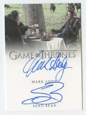 Sean Bean (Ned Stark) & Mark Addy 2016 Game Of Thrones Signed Auto Autograph