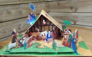 Pop up Book - Nativity Scene Christmas Decoration - Van Der Meer - RARE Stunning