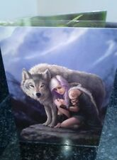 Celebration Greetings Card with Envelope - Anne Stokes Protector Wolf