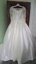 Brand new Wedding dress. Size 12-14 Satin ball gown. Modest dress. UK Seller.