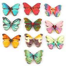 50pcs DIY Mixed 2 Holes Butterfly Shape Wooden Sewing Mend Scrapbooking Buttons.