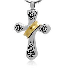 Memorial Cremation Jewelry,Pendant,Keepsake Ash,Funeral Urn,CROSS RING SILVER