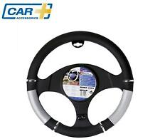 Car+ Car steering wheel glove cover holder silver black chrome QUALITY sleeve