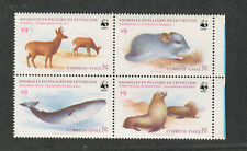 Chile Sc#682a M/NH/VF, WWF-Animals Block Of 4, Cv. $48